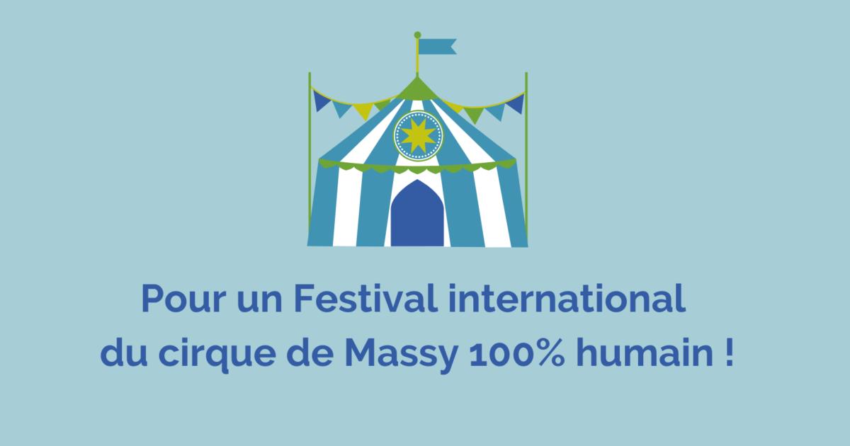 Pour un festival international du cirque de Massy 100% humain